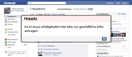 Facebook weniger privat